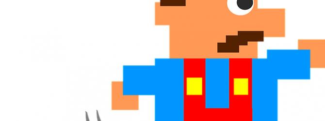 Retro Game Figure