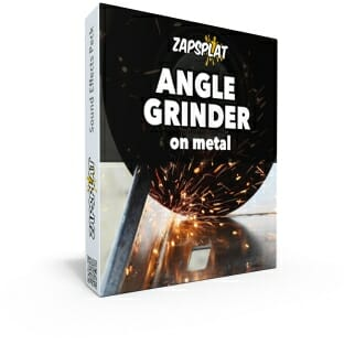 Angle grinder on metal sound effects pack