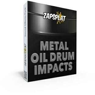 Metal oil drum impact sound effects pack