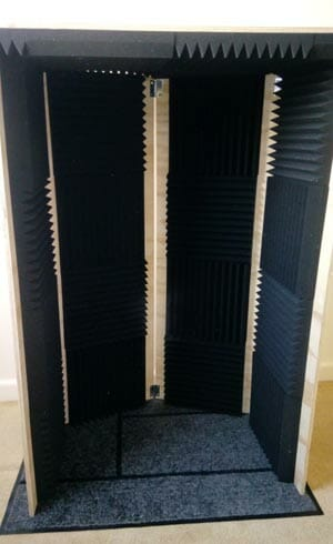 Acoustic wall folded