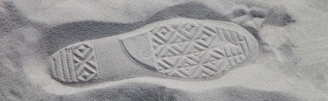 Footstep in sand