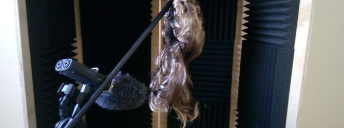 Recording hair cutting sound effects