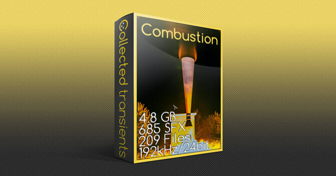 Combustion sound effects library