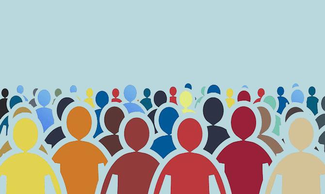 crowd of people illustration